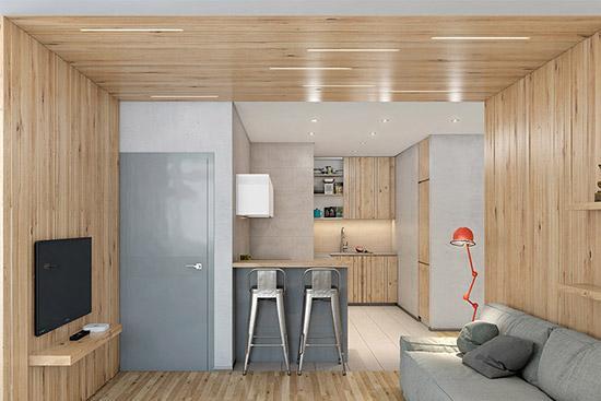 原木混凝土 静谧禅意的日式风格 - 装修风格 - 二泉网