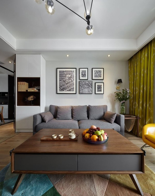 90平简约北欧风格设计 黑白灰的永恒经典